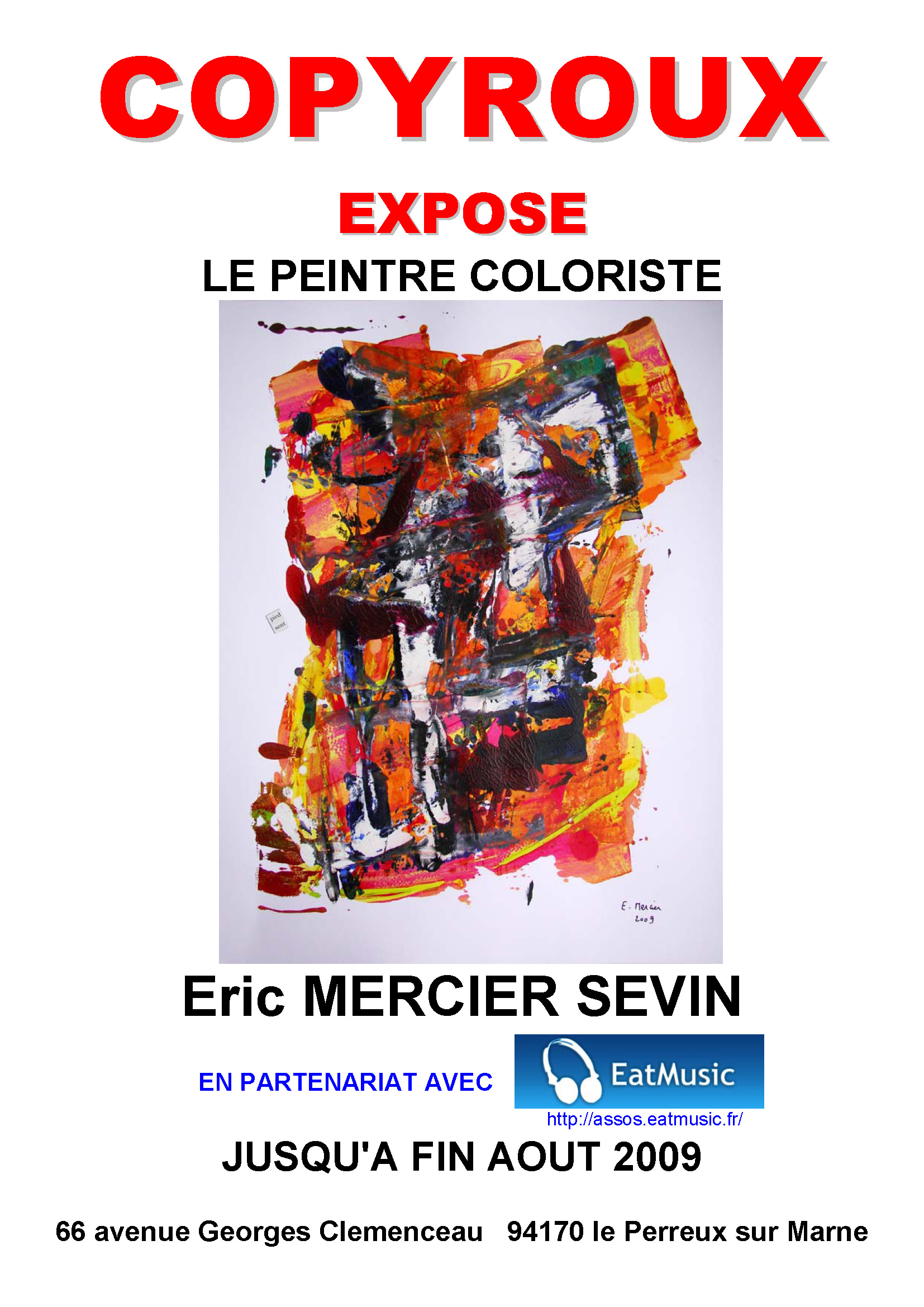 Exposition du peintre Éric MERCIER SEVIN