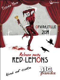 Release Party de l'EP 7 titres des Red-Lemons avec les Big Panda et Kind Of Cute